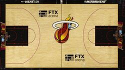 Miami Heat court design