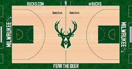 Milwaukee Bucks court design