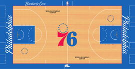 Philadelphia 76ers court design