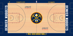 Denver Nuggets court logo