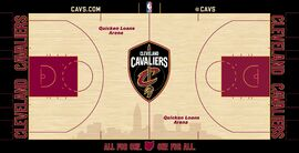 Cleveland Cavaliers court logo