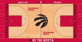 Toronto Raptors court design 2018–19