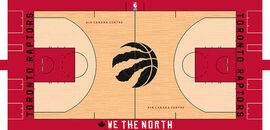 Toronto Raptors court design 2017