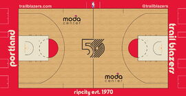 Portland Trail Blazers court design 2019-20