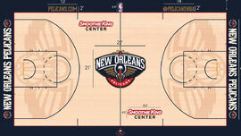 New Orleans Pelicans court 2015