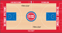 Detroit Pistons court design