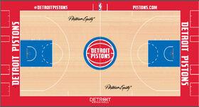 Detroit Pistons court design