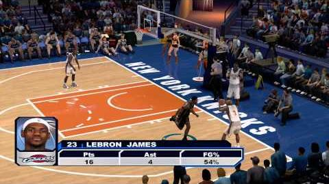 "X360 NBA 2K6 - Cavs vs Knicks - ""Crazy Plays in the Game"""