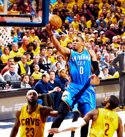 File:Russell Westbrook shoots against Cavs (cropped).jpg