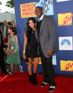 Vanessa and her husband Kobe poses at the video music awards