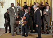 Shaq at the white house