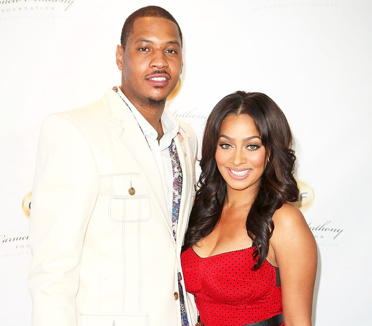 Carmelo Anthony And Lala Son 2012
