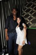 Vanessa Bryant and Kobe Bryant at Cluba Nokia