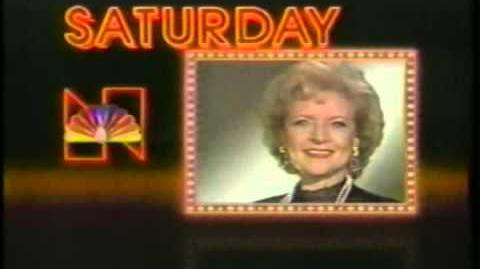 NBC Saturday Promo 1985 with NBC 1985 ID