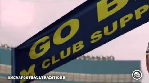 NCAA Football 12 Michigan Wolverines TEAM Entrance FIRST LOOK !