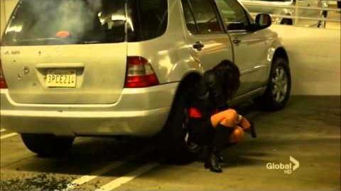NCIS LA Shot scene 4x1 Kensi and Deeks