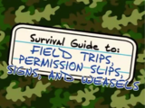 Guide to: Field Trips, Permission Slips, Signs, and Weasels