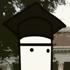 Lataman con uniforme de Harvard