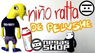 NIÑO RATTA DE PELUSHE