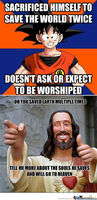 Good guy Goku and Jesus