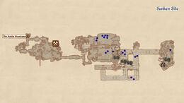 Sunken Site map