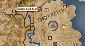 Border Fort Ruin location