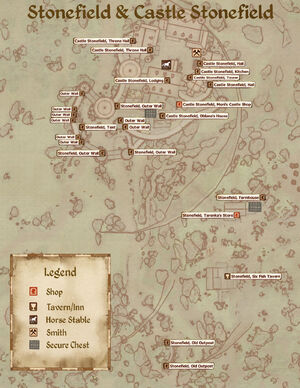 Castle Stonefield Map