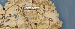 The Lonely Towers location