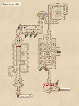 Arcane Garden map