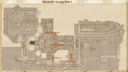 Daromith Temple Part I map