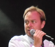 Jase donovan with microphone 2014