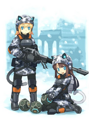 Neko army girls