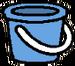 Bucket blue