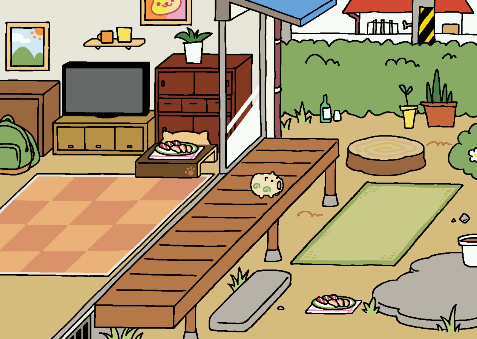 Neko atsume zen room decor