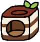 Cube tiramisu