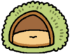 Cushion chestnut