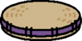 Grass cushion purple