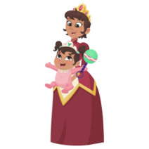 Nella the Princess Knight Queen Mom and Baby Norma