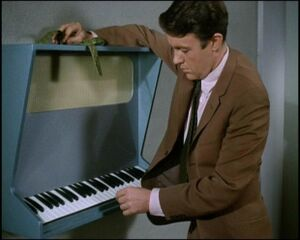 Richard with a musical keyboard