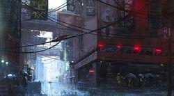 Deszcz w Łaźni