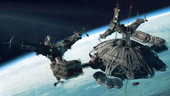 Space station by jett0-d3du2ke