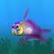 Fish firefish violet