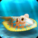 Fish rare stingray orange