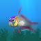 Fish firefish grey
