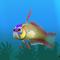 Fish firefish yellow