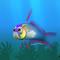 Fish firefish blue