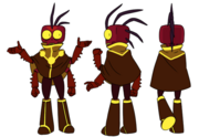 Scree model sheet (with clothes)
