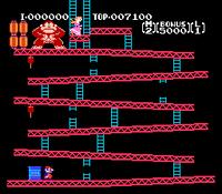 Donkey Kong NES Screenshot