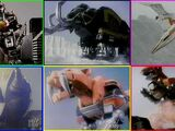 Zords in Mighty Morphin Power Rangers