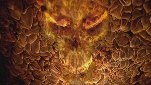Ori flame skull
